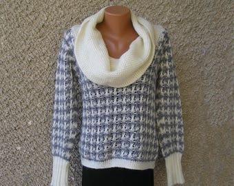 Vintage BENETTON pointelle sweater, size S-M