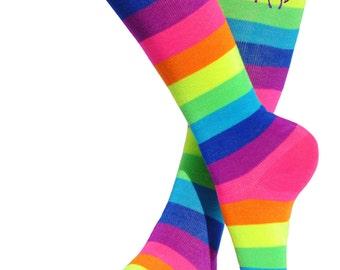 Unicorn Rainbow Knee High Socks Unicorn Costume Socks Roller Skate Party Fun Socks Glow Party Magical Fairytale Birthday Little Pony Socks