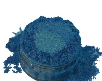 Thirst Blue Gold  Eyeshadow Rich Irridescent Mineral Make up eyeliner 5g Sifter Jar  Eye shadow Petite size Natural Organic Vegan