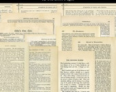 12 Old Book Pages Yellowed Aged Variety of Vintage Paper Digital Download JPG