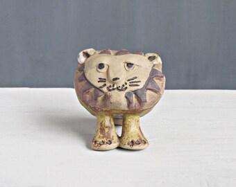 Tremar Pottery Big Lion - Pottery Lion - Tremar Cornwall - Vintage Pottery Big Lion