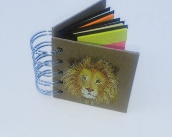 Customised post-it notes. Small memo pad of assorted sticky post-it notes, decorated with a miniature painting of whatever theme you choose