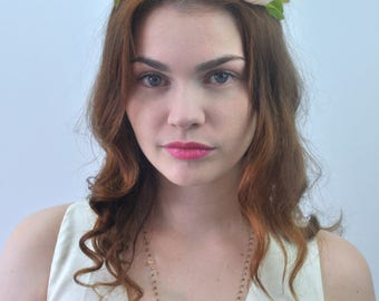 Blush Pink Bridal Flower Crown Headpiece