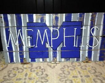 University of Memphis Wood Sign