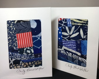 Blank Note Cards Set //Art Quilt//Art Card//Thank You Note Card//Greeting Card//Hostess Gift//Thank You Gift//FREE SHIPPING