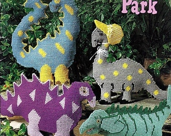 Dinosaur Park - Plastic Canvas - American school of Needlework 3130