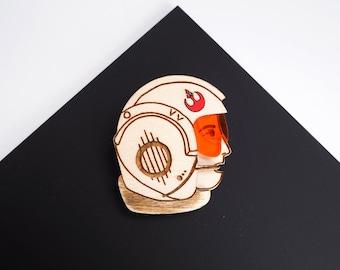 Rebel Alliance Pilot Star Wars Brooch, Laser Cut Jewellery, Astronaut Pin