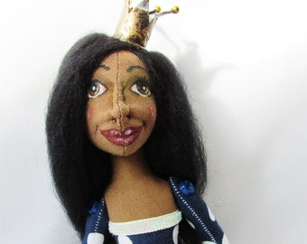 Cloth Art Doll Princess Loretta