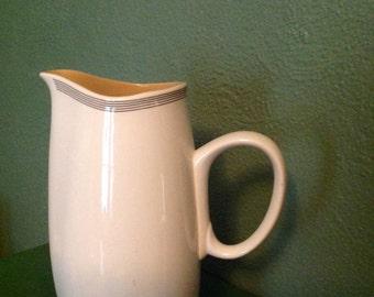 Vintage Franciscan Fan Tan ceramic pitcher 60s Japan