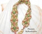 Beadwoven Bracelet, SuperDuo Beaded Bracelet, Seed Bead Jewelry, SuperDuo Beads,Beaded Bracelet, Beaded Cuff, Beadwork Bracelet, MyBeads4You