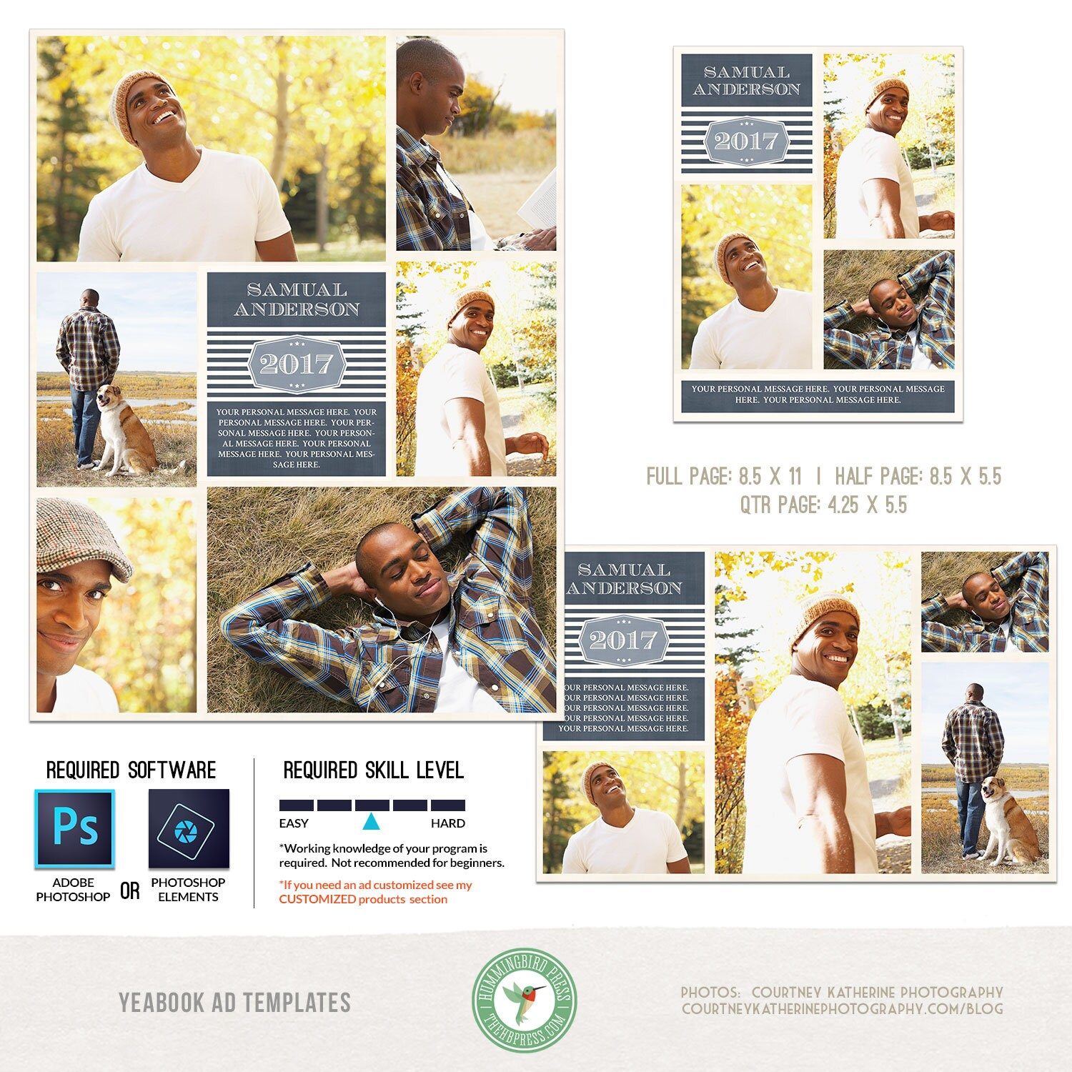 yearbook ad template yearbook ad templates senior ad graduation ad high school middle school college full page half page and quarter page included y9