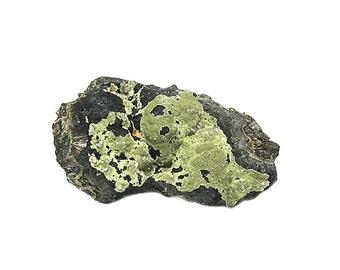 Strengite Lavender crystalline balls, Olive Green Kidwellite on Bronzy Beraunite and Golden orange Cacoxenite Matrix, Rare Mineral Specimen