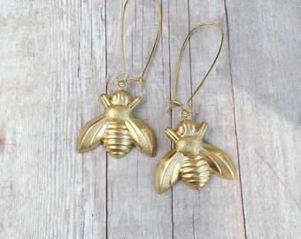 Bee Earrings Bumblebee Jewelry