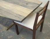 Neese Dining Chair - Solid Walnut Canvas Upholstery - Dylan Design Co