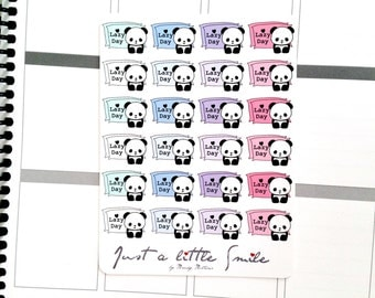 Panda Lazy Day Sticker