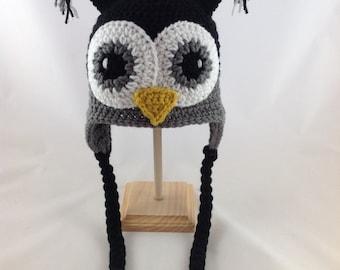 Baby Owl Hat - Crochet Owl Hat - Baby Girl Hat - Baby Boy Hat - Baby Girl Hat - Kids Owl Hat - Toddler Owl Hat - Baby Shower Gift