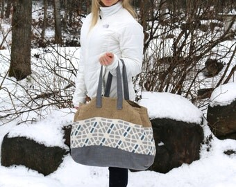 Tote Bag Large Canvas Bag Pattern Market Bag Pattern