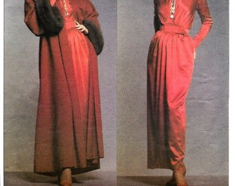 Vogue 1046 Paris Original Givenchy Elegant Evening Dress & Coat Pattern, Size 8