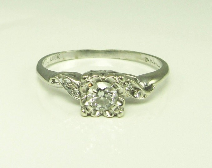 Diamond Engagement Ring; Vintage Diamond Engagement Ring; Engagement Ring; Vintage Engagement Ring; Promise Ring; Vintage Promise Ring