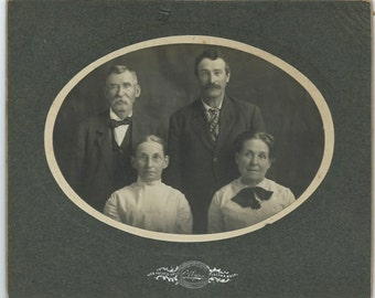 Antique Cabinet Card Photo of Two Couples in Tacoma Washington, 1800s