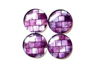 Glass Magnets - Purple Magnets - Fridge Magnets - Purple Decor - Office Decor - Office supplies - Classroom Decor - Teacher Gifts