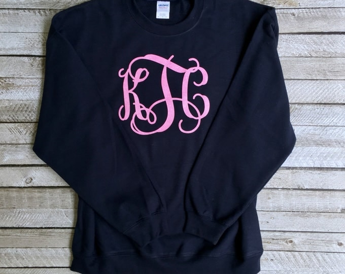 Monogram Sweatshirt, Monogrammed Sweatshirt, Monogrammed Gifts, Crewneck Sweatshirt, Christmas Gifts for her