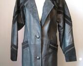 Full Length Black Leather...