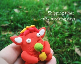 Cute Polymer Clay Monster, Chummster, gardening gifts, cafe decor, collectible toy, monster party, cute monsters, monster sculpture