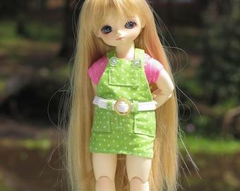 1/6 doll ~green overall & belt |BJD (26/30 cm)