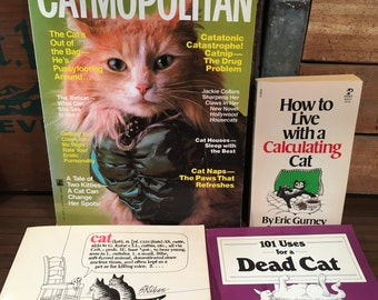 Vintage Cat Humor Book Collection B. Kliban Catmopolitan 101 Uses For A Dead How to Live With a Calculating Cartoon