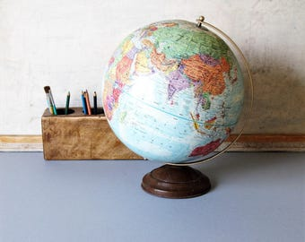 Vintage globe, Replogle world globe.