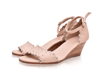DREAMLAND. Leather wedges / women shoes / leather sandals / wedge sandals / wedding shoes. Sizes 35-43. Available in different colors