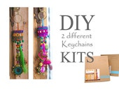 Rustic Bohemian, Lucky charm, DIY Craft Kit, Charm Keychain, DIY Kit, Good luck gift, boho bag charm