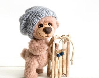 Collectible Teddy bear William -  Artist Teddy bears - OOAK jointed teddy bear -  Cherished teddies