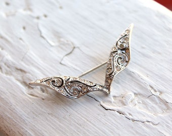Vintage Wing Crystal Brooch // New Old Stock // Crystal Brooch // Crystal Pin // N196