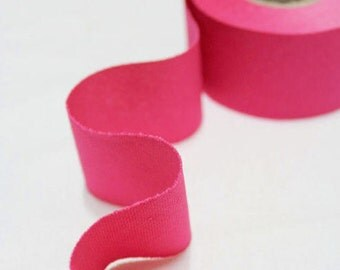 4 cm Oxford Cotton Bias Tape in Hot Summer Pink - 12 yards - By the Roll - 91233