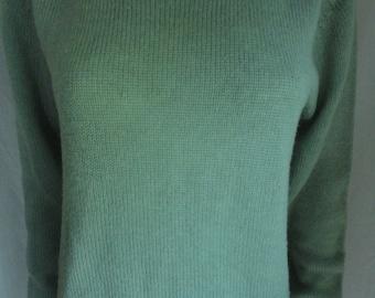 Sage New Zealand Shetland Wool Sweater Size Large Ladies Womens
