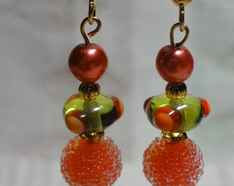 Really Fun Melon and Lime Earrings