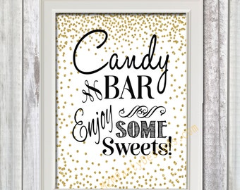 Chalkboard Candy Bar, Printable Sign, Chalkboard Candy Buffet Sweet Sign, Wedding Decor, Wedding Signage, Instant Download
