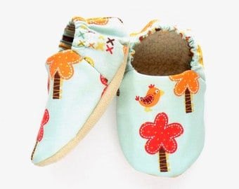 Tree Baby Girl Shoes, Size: 6-12 mos Baby Shoes, Soft Sole Shoes, Baby Booties, Baby Girl Soft Shoes, Slip On Baby Shoes, Baby Girl Gift