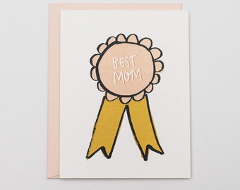 Best Mom Award - Mother's Day Card - Card for Mom