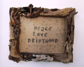 driftwood frame 8 x 10 rustic beach frame coastal home decor shabby chic - Driftwood Picture Frame