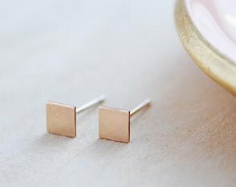Gold Geometric Earrings - Diamond Shape Stud Earrings - Graduation Gift - Mother's Day - Dainty Earrings - Geometric Jewelry - Minimalist