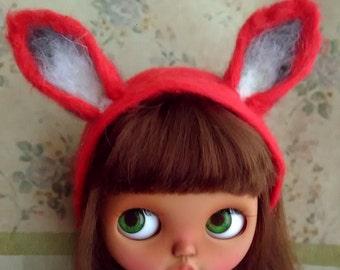 Fox Hair band  hand made  for blythe or similar dolls