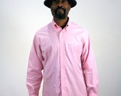 80s Pink Brooks Brothers Shirt, Button Down Oxford Long Sleeve Shirt, Pink Dress Shirt, Preppy Shirt, Pink Shirt, Supima Cotton, M