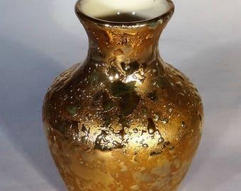 Weeping Gold Bud Vase, 22KT Gold, Decorative Vase, Weeping Gold Vintage Vase, Bud Vase, Gold Bud Vase