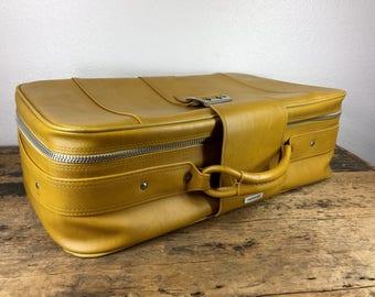 Vintage Yellow Samsonite Soft Luggage