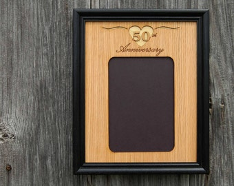 50th Anniversary Picture Frame, 50th Anniversary Gift, Wedding Anniversary Gift, Custom Frame, Personalized Picture Frame