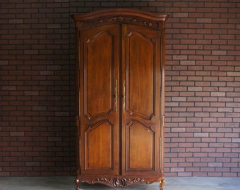 Armoire / Wardrobe / French Provincial Armoire / Country French Armoire by Century Furniture