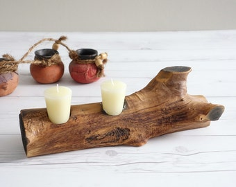 Vintage Driftwood Candle Hodler